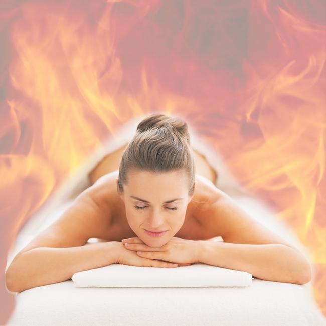 Антицелулитен огнен масаж