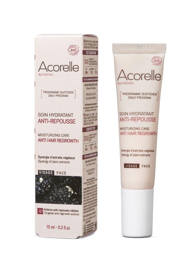 Acorelle био хидратиращ гел за намаляване на окосмяването по лицето
