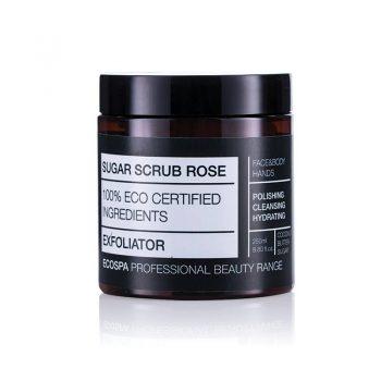 Захарен скраб с роза за лице и тяло на Eco Spa
