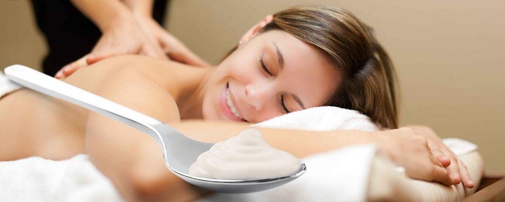Класически масаж с кисело мляко