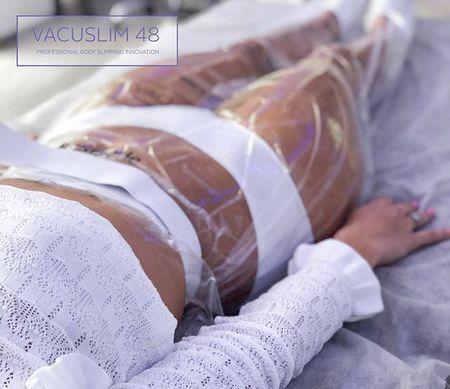 Иновативна професионална терапия Vacuslim 48 е нова концепция, създадена да помогне на всеки един клиент за по-бързото и дълготрайно отслабване с ударни активни съставки.